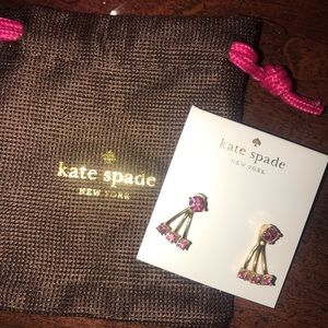 Kate spade pink bling earrings with amazing back